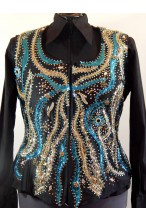 MKC  Pleasure Vest - Turquoise, Black & Gold