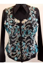 MKC  Pleasure Vest - Turquoise, Black & Sliver