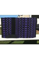 Saddle Pad: Black, Show Purple and Pearl