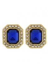 Horse Show Post Earrings -Sapphire 5/8""