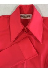 Miss Karla's Closet Fitted Show Shirt - Dark Coral