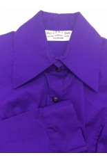 Miss Karla's Closet Snap Front Fitted Show Shirt - Dark Purple