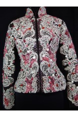 MKC Horse Show Jacket - Chocolate with Ivory Lace