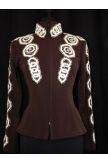 MKC Horse Show Jacket - Chocolate with Leather Cut Out