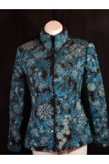 MKC Custom Showmanship Jacket - Black and Turquoise