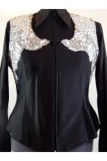 MKC  Custom Vest - Black, Silver & White