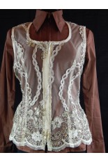 MKC Lace Horse Show Vest - Taupe