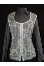 MKC Lace Horse Show Vest - Silver