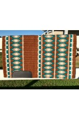 Saddle Pad:  Chocolate, Teal, Fawn and Cream