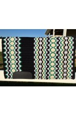 Saddle Pad: Black, Kelly Green, Metallic Silver and Cream