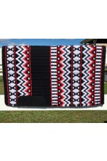 Saddle Pad: Black, Show Red, White and Metallic Silver