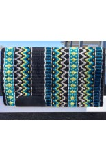 Saddle Pad: Black, Show Turquoise, Lime and Grey