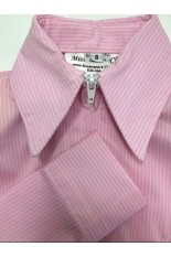 MKC Youth Fitted Show Shirt - Pink and White