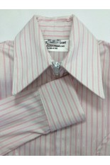 MKC Youth Fitted Show Shirt  - White with Pink Stripe