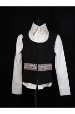 Youth Poly Cotton Show Vest - Black