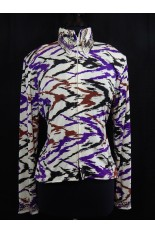 MKC Electric White, Purple, Black and Brown Horse Show Shirt