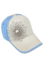 Olive and Pique Hat - Ivory, Blue