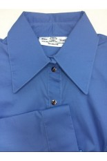 Miss Karla's Closet Snap Front Fitted Show Shirt - New Blue