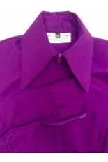 Miss Karla's Closet Fitted Show Shirt - Plum